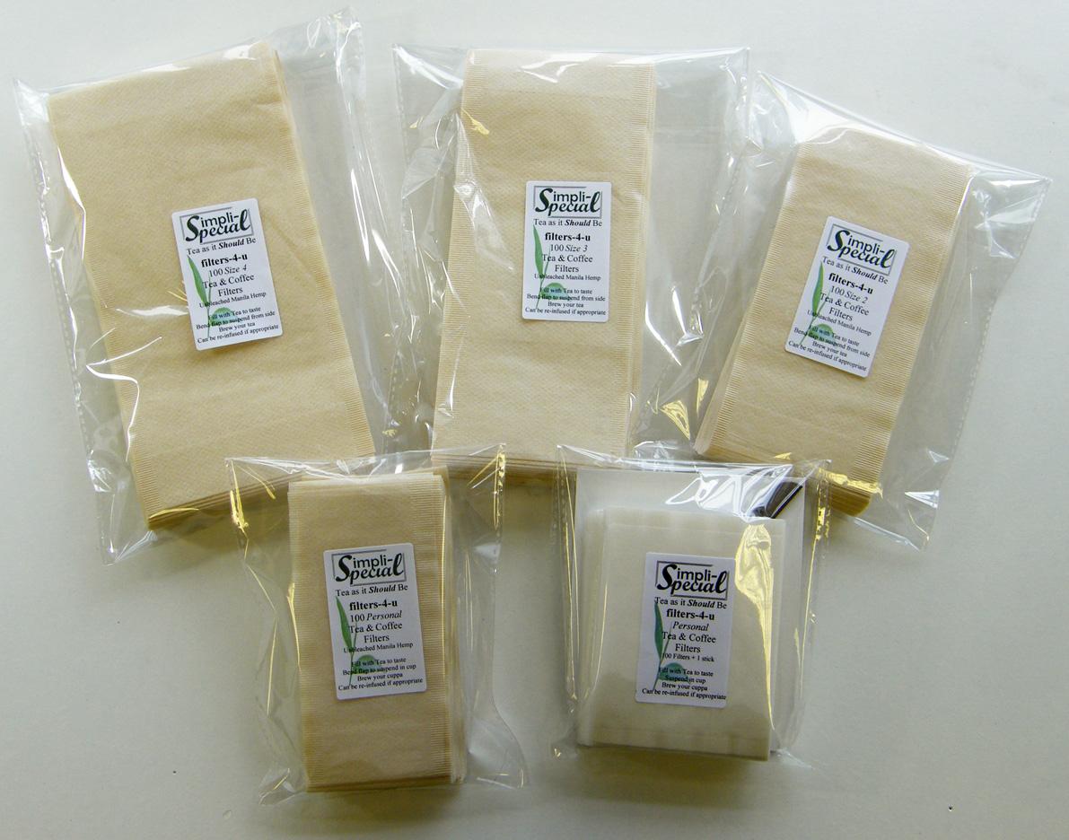 Our tea filter range