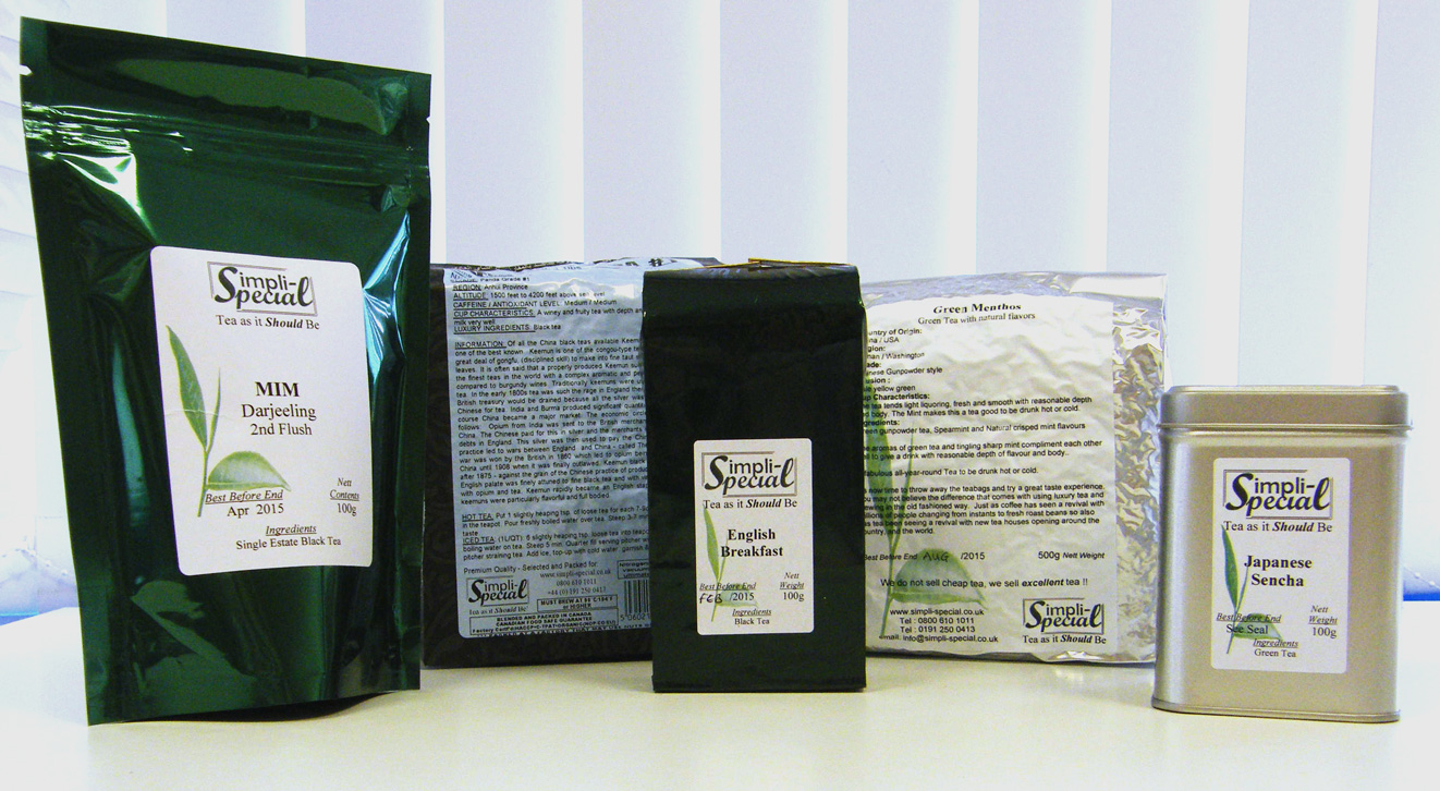 Our tea packaging range